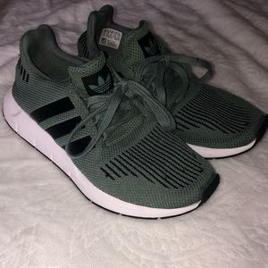 Olive green Adidas Swift Run